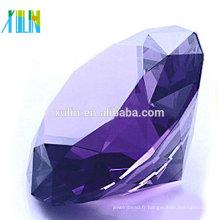 Cristal diamant charme cristal violet diamant bijoux faveurs de mariage