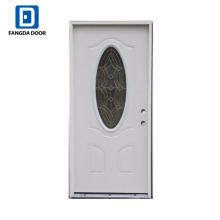 Portas de aço zincado Fangda com vidro oval