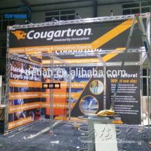 exposição portátil da feira profissional de alumínio exterior / projeto interno cabine da cabine da exposição da cabine