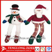 Lindo y peluche de felpa de Navidad de las ventas al por mayor juguete con las piernas largas