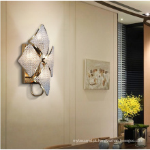 Candeeiro de parede LED de cristal moderno e luxuoso para quarto