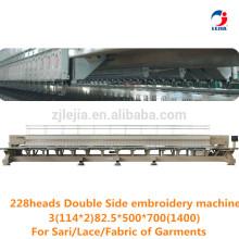 Lejia Cabeça de dupla face de alta eficiência Máquinas de bordar computadorizadas