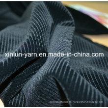 100% poliéster de pulverización flocado tejido de punto para el sofá conjunto de diseños