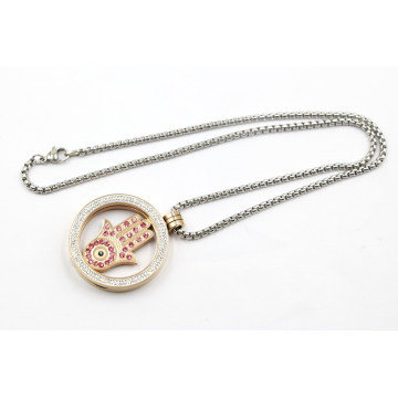 Fashion Stainless Steel Floating Locket Pendant Necklace