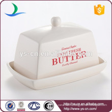Kitchen Decorative Ceramic Butter Dish and Lid Cover