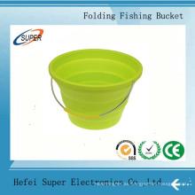 Cubo plegable de la pesca del compartimiento de la pesca del cubo del agua de Silcone