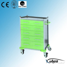 5 Drawers Hospital Medical Medicine Treatment Trolley (N-23)