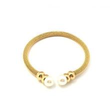 Joyas de perlas de moda Joyas de acero inoxidable pulsera