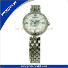 Señoras joyas Swiss Ce Quartz Watch banda de acero inoxidable