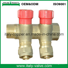 OEM y ODM Manguito de 2 vías forjado de cobre amarillo de la calidad (AV9070)