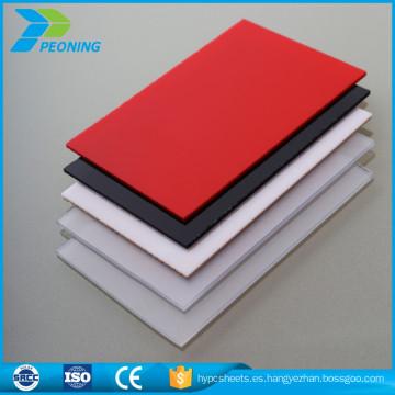 100% bayer makrolon teñido de policarbonato translúcido hoja de plástico
