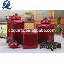 Unique China Wholesale Coffee Tea Kitchen Ceramic Canister Sets