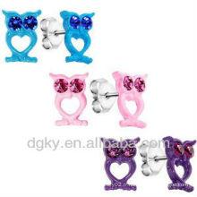 Love Owl Trio Stud Earring Ear Pin Earring