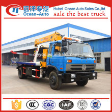 10ton wrecker tow trucks with crane with dongfeng 153 chassis