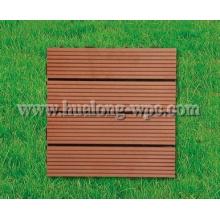 WPC настил древесины Пластиковые композитные DIY плитка для напольного