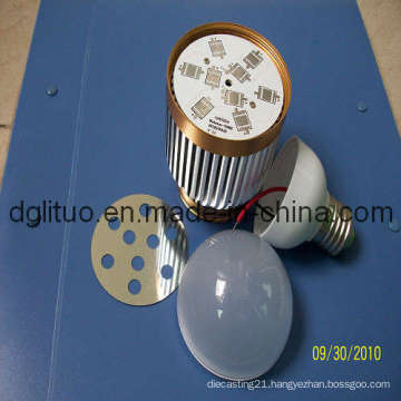 Aluminium LED Bulb Housing With RoHS, SGS Approved