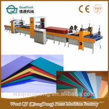 Papier décoratif / HPL / Acrylique Hot melt (PUR) Glue Laminating line