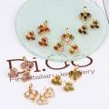 60591-Xuping позолоченные ювелирные изделия в форме сердца комплект ювелирных изделий