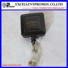 Werbeartikel Kunststoff-Rollen-Retraktoren mit Metall-Clip (EP-BH112-118)