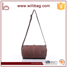 Hotsale Trend Genuine Leather Rolling Messenger Bag