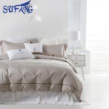 Juego de cama de algodón blanco barato Funda nórdica textil