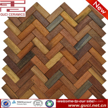 Custom style product mixed Solid wood tile wall and floor mosaic tile