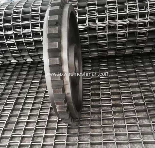 Stainless steel U Grid spiral belt