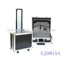 portable aluminum trolley luggage wholesale with strong frame&corner manufacturer