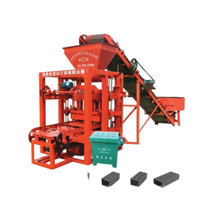 QT4 2 6brick making machinery / semi automatic machine for making cement brick with ISO CE