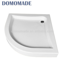 Alta qualidade vende na bacia de chuveiro de superfície sólida lisa branca