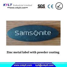 Étiquette en zinc et métal avec revêtement en poudre