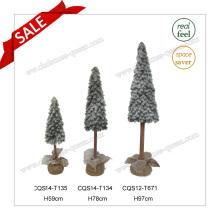 H59-97cm PE Cadeaux de Noël en plastique et faux arbre de noël de neige