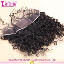 Самый продаваемый высокого качества 100% необработанных перуанский волосы шелковая база кружева лобной закрытие