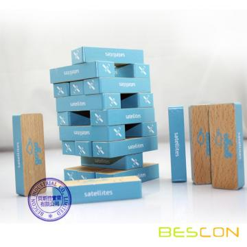 48 Piece Colored Printed Wooden Jenga