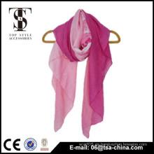 Impresión italiana del gradiente del hilado bufanda suave del mantón del doblez de 110 * 150 cm