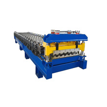 Single Deck Metal Glazed Profile Roll Forming Machine