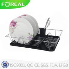 Porte-vaisselle multi-usage avec plateau en plastique