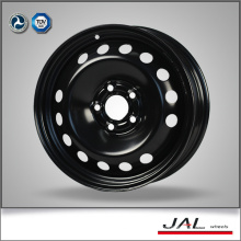 Best Design 6.5x15 Black Chrome Wheels 5 trous en acier Car Wheels Rim