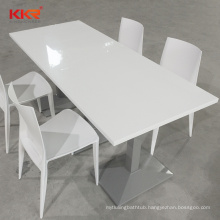 2020 China Manufacturer Customized Round Stone Acrylic Dining Table