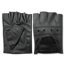 Herrenmode Schwarz PU-Leder fingerlose Fahrerhandschuhe (YKY5036)