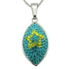 Kleber Kristall Oval Lady Blätter Halskette
