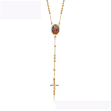 45172 beste verkaufende elegante Halskette der xuping eleganten Halskette der Farbe 18K Goldkreuzreligion