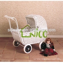hot sale outdoor white rattan baby stroller