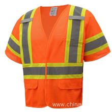 High Visibility Safety Vest With Reflective Strips Meets ANSI ISEA 107 2010