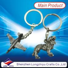 3D Airplane Antique Nickle Plating Custom Metal Keychain Keyrings (LZY800020)