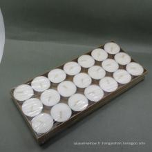 100pcs bon marché sac blanc bougie chauffe-plat
