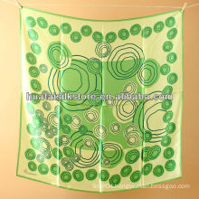2014 new products fashion silk green dot ladies scarves