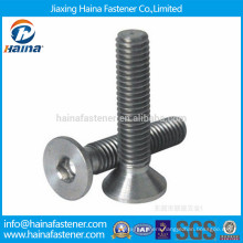 China suppler Countersunk head socket titanium Bolt