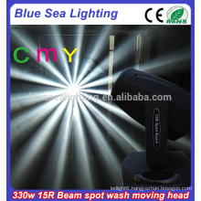 15r 330w CMY 3in1 beam spot wash lights moving head stage lighting