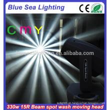 15r 330w CMY 3in1 luzes da mancha do feixe de feixe que movem a iluminação principal da fase